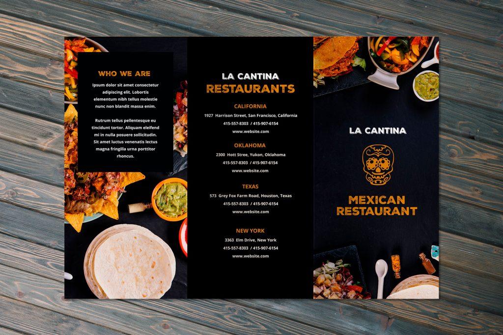 Takeaway restaurant cafe menu